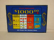 """PRE-1970's, BALLY'S """"PLAY DOLLARS"""" 4 COIN, MECHANICAL SLOT MACHINE - GLASS FACE"""