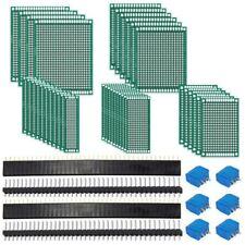 62Pcs PCB Board Kit Includes 32Pcs Double Sided Prototype Boards, 20Pcs Hea L6O5