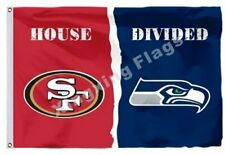 San Francisco 49ers and Seattle Seahawks Divided Flag 3x5ft