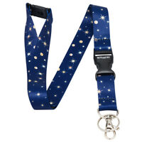 Multicolour NIGHT SKY STARS Lanyard Neck Strap With Card/Badge Holder / Key Ring