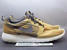 Men's Nike Roshe Run One Hyperfuse Gold Running Shoes 636220-701 sz 13