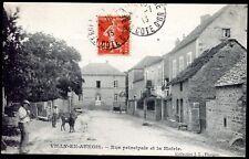 cpa Villy-en-Auxois .  Rue principale et la Mairie .  Côte d'Or . Bourgogne