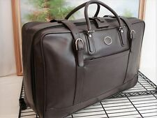 Authentic Gucci Leather Luggage Garment Bag Suitcase Travel Bag Case Graet