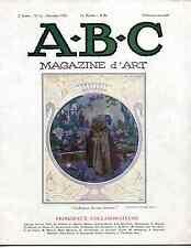 A-B-C Magazine d'Art 1926 Daumier,pointe-sèche,taille directe