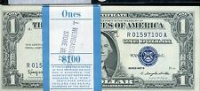 1957 B ONE DOLLAR PACK SILVER CERTIFICATE 22 STAR NOTES UNC