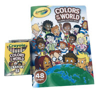 Crayola Colors Of The World Coloring Activity Book w 32ct Crayons USA Made NEW