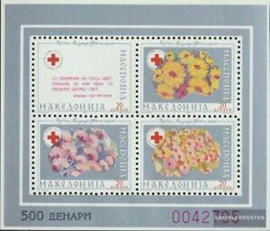 makedonien Z miniature sheet 6A (complete issue) Zwangszuschlagsmarken unmounted