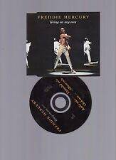 ☆☆ Queen Freddie Mercury Living on my own 4 track NEAR mint CD SINGLE ☆☆