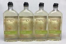 4 Bath & Body Works Energy Lemon Zest Aromatherapy Body Wash & Foam Bath