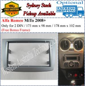 Fascia facia Fits Alfa Romeo AlfaRomeo MiTO 2008-2013 Double Two 2 DIN Dash Kit
