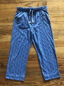 Vineyard Vines Kids Lacrosse Whale Pajama Lounge Pants Blue/Pink Size 6/7
