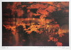 Robert Peak, Autumn Leaves (Frank Gifford), Lithograph Poster, signed and dated