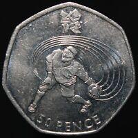 2011 | Elizabeth II London 2012 'Goalball' 50p | Cupro-Nickel | KM Coins