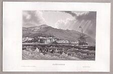 Türkei, Trabzon, Trapezunt - Maritime Ansicht - Original Stahlstich 1850
