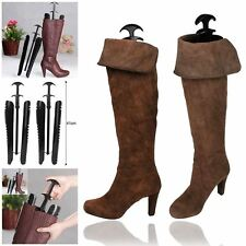 1 Pairs Lady Women Automatic Boot Trees / Shapers With Handle Black 12.5 inch UK