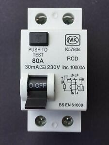 MK K5780s 80A 30mA RCD - Brand New & Boxed