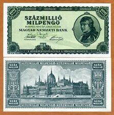 HUNGARY P 135 1946 10 Million Trillion P P135 UNC