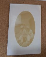 WW1 2 Soldiers in Pith helmets Middle east unposted  .. XC2