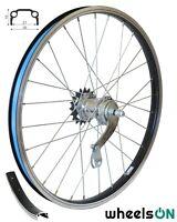 20 inch wheelsON Rear Wheel Velosteel  Back Pedal Coaster Brake 36 H Black