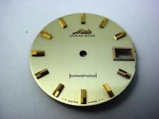 Powerwind Mido Ocean Star Gold Vintage 29.26mm Watch Dial Date Window Stick Mrks