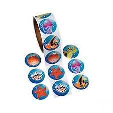 UNDER THE SEA PARTY Tropical Sea Life Stickers Favours - Pack of 50 Free Postage