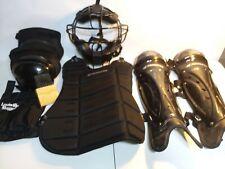Champro Air Tech Sports Varsity Umpire Kit Uniform Equipment Mask Pads Black