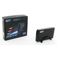 "CiT 3.5"" USB 2.0 SATA + IDE External HDD Enclosure U35SPA - Black"