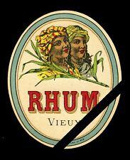 European Vintage Alcohol Label: Vintage Rhum Vieux Liquor