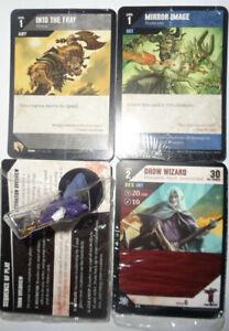 D&D Miniatures Dungeon Command DROW WIZARD Lot of 1 #GD12 figure + 3 bonus cards