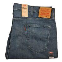 LEVI'S 516 Straight Fit Blue Denim Stretch Jeans Men's, BRAND NEW 505160039