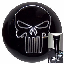 Black Silver Punisher Skull shift knob for Dodge Chrys Jeep Auto Black Adapter