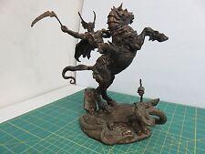 Vintage Nightmare's Bane by BROM Bronze Sculpture FRANKLIN MINT Horse Rider