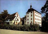 Schlösser Motiv Postkarte Schloss Kochberg bei Großkochberg Thüringen color DDR
