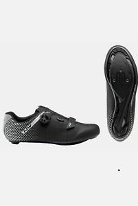 Northwave Core Plus 2 Road Bicycle Cycle Bike Shoes Black / Silver 42