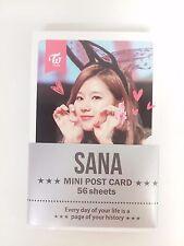 SANA Sa Na TWICE Photo Mini Post Card 56 Sheets KPOP Dahyun Tzuyu Mina Momo Sana
