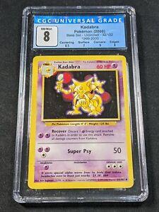 Pokemon TCG - CGC 8 - Kadabra - 4th Print Base Set 32/102