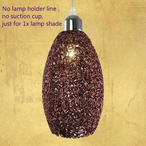 Metal Woven Lampshade Cover Drum Lightshade Table Ceiling Pendant Cylinder Decor