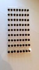 Joblot of 36 Pairs Black round 8mm Crystal stud Earrings - New wholesale