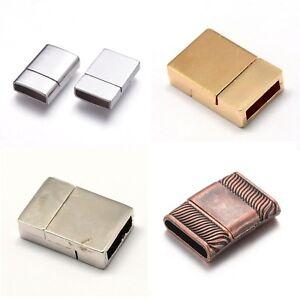 Magnetverschlüsse Magnetic clasp Rechteck Magnetschließe Schließe gold silber