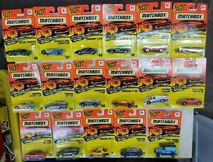 Lot of 17 MATCHBOX, SUPER FAST. NIP. (9A)