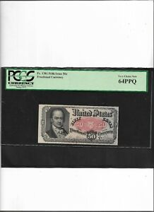Fractional Currency Fr.1381  Fifth Issue 50c Very Choice New 64PPQ