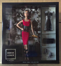 2016 Barbie Convention Fan Club Gift Herve Leger Red Dress Doll Scarf Note Paper