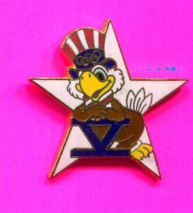1984 OLYMPIC PIN SAM WHITE STAR PIN SAM LETTER V PIN