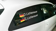 Rallye Racing DTM Motorsport Name + Flagge Name 40 cm