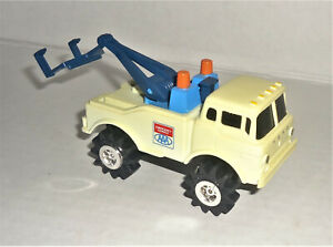 1980s Vintage Schaper Stomper AAA COE Ford Tow Truck White 4x4 & Dolly WORKS!
