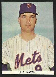 1968-69 J.C. Martin  NEW YORK METS  UNSIGNED  3-5/8 x 5  YEARBOOK PHOTO #2