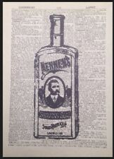 Vintage Shaving Soap Bottle Print Dictionary Page Wall Art Picture Beard Barbers