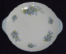 """VINTAGE Shelley BELLE BONE CHINA earred CAKE PLATE """"FORGET ME NOT"""". PATT NO 2394"""