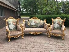 French Louis XVI Sofa/Settee/Couch Set with 2 Chairs - WORLDWIDE SHIPPING