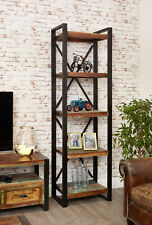 Urban Chic Furniture Reclaimed Wood Tall Bookcase Steel Frame